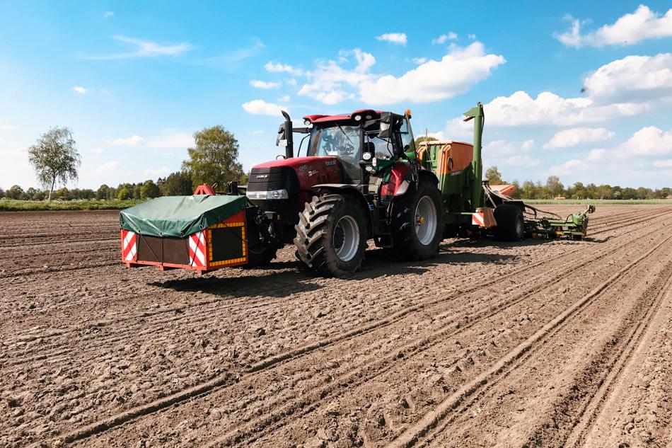 Getreidebestellung von Agrarservice Meyer